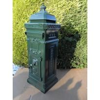 Aluminium nostalgische engelse brievenbus donker groen