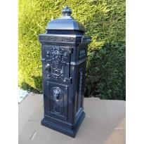 Aluminium nostalgische engelse brievenbus donker blauw